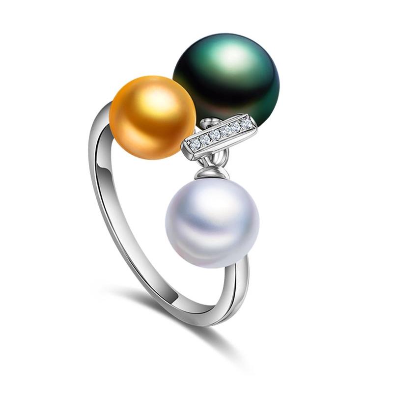 18K金珍珠戒指